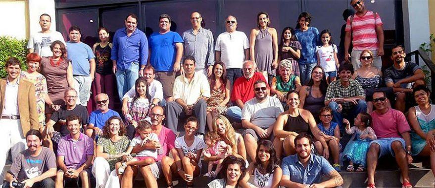 Associados da Abracannabis durante a fundação da entidade em 2015 (Foto: Arquivo Pessoal)