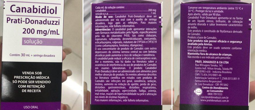Apresentação do Canabidiol 200 mg/ml da paranaense Prati-Donaduzzi