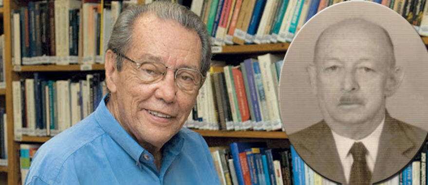 Arquivo Pessoal. Dr. Elisaldo Carlini e, no detalhe, o médico Pedro Pernambuco Filho