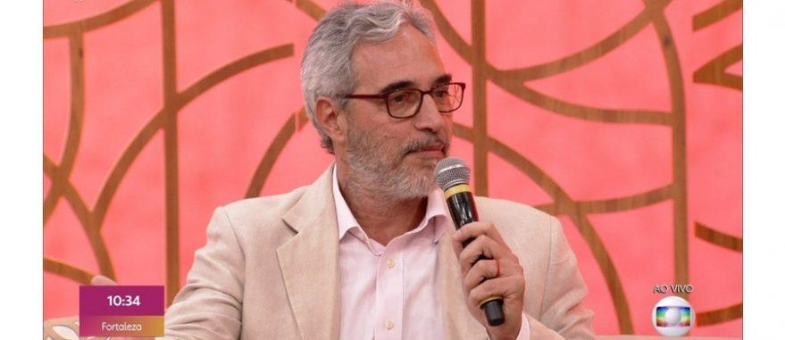 Dr. Eduardo Faveret durante o programa Encontro, da Rede Globo, falando sobre a Cannabis medicinal