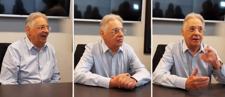 Marcus Bruno/ Cannabis & Saúde | Fernando Henrique Cardoso antes de palestrar no evento Cannabis Thinking, em São Paulo