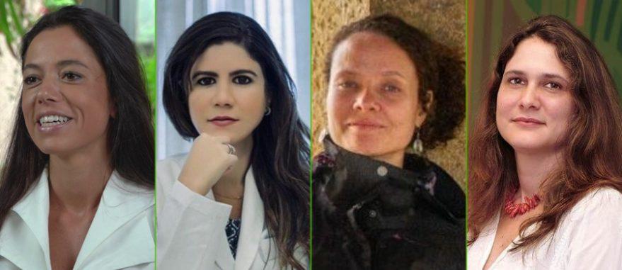 Médicas Paula Dall'Stela, Ailane Araújo, Paula Fabrício e Ana Hounie