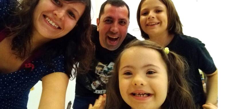 arquivo pessoal | Valentina e a família